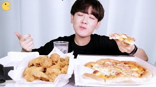 🍕피자나라치킨공주🍗나의 최애메뉴 먹방ㅣ골든치즈볼 피자, 치즈 크리스피 치킨ㅣYAMMoo