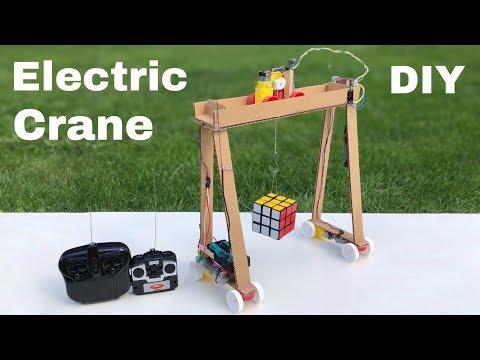 How to Make Remote Control CRANE from Cardboard - DIY Bridge Crane