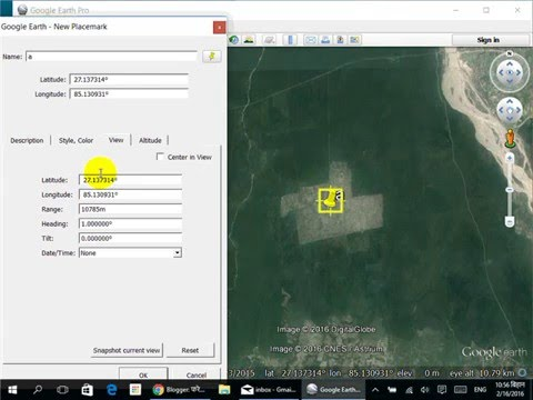 Change Coordinate System in Google Earth
