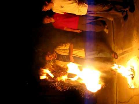Coffee Creamer + Burning Log = FIREBALLS