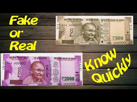 Fake or real notes - Know quickly - Quickest way to identify real or fake notes - Indian Currency