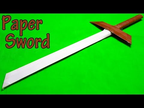 How to make a Paper Sword | easy Ninja Sword Tutorial