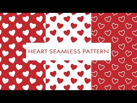 Illustrator Short Tutorial #5 Heart Seamless Pattern