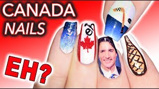 Stereotypical Canadian Nails (it