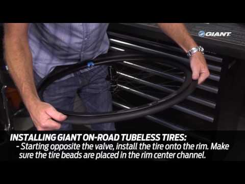 How to Install Giant Tubeless-Ready Bicycle Tires