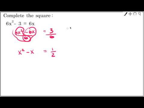 Harder: Completing the square