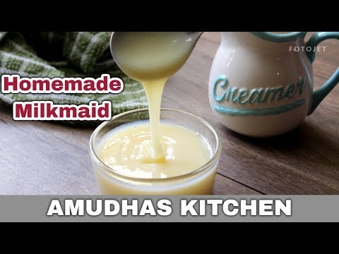 Milkmaid made with 2 Ingredients   How to make Homemade Milkmaid / Condensed Milk in Tamil