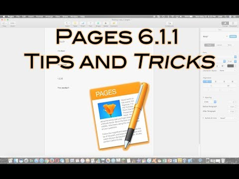 Apple Pages 6.1.1 Tips and Tricks