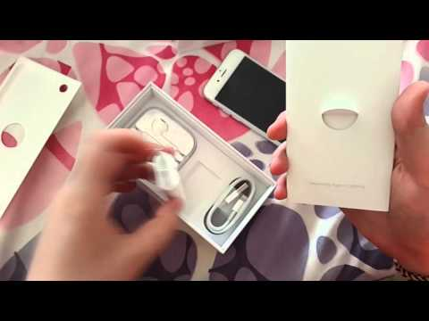 Unboxing Apple iPhone 6 Silver,White 16G