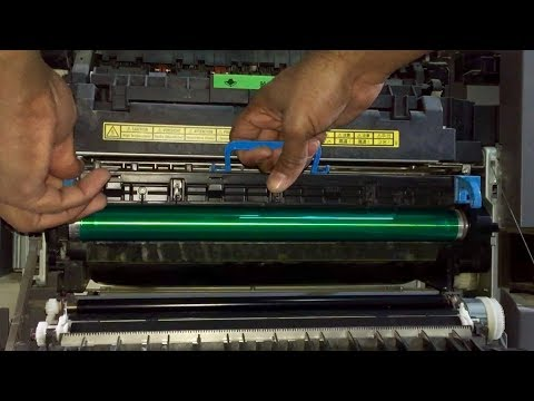 Konica Minolta bizhub 350/ bizhub 250 drum replacement   change the drum cleaning blade
