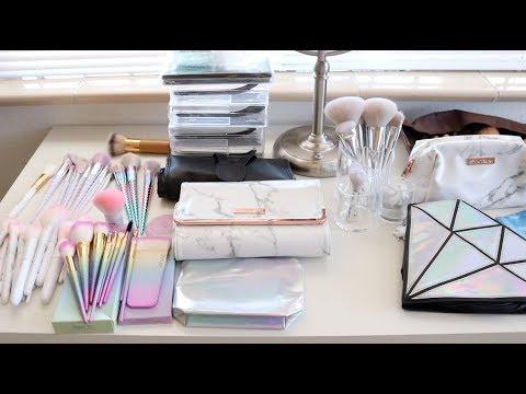 Fall Declutter:  Makeup Brush Collection & Declutter