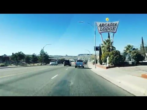 Route 66 drive through Kingman Arizona