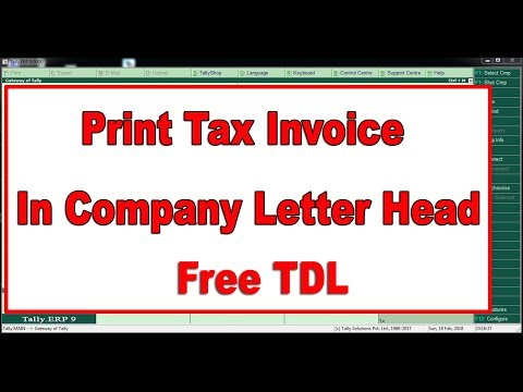 VAT Customized Invoice Format in Company Letter Head