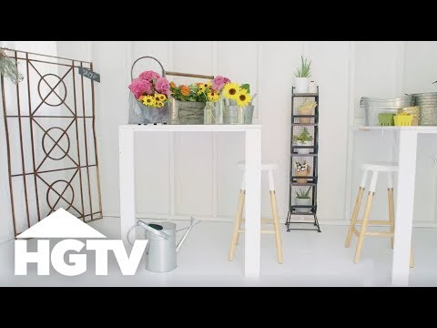 This DIY Foldaway Table Doubles as Art - HGTV