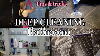 How to clean a bathroom - DEEP CLEAN WITH ME! 🚿🤩