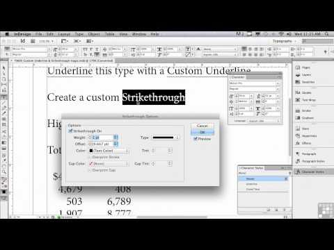 Adobe InDesign CS6 Tutorials | Underline & Strikethrough Magic | InfiniteSkills