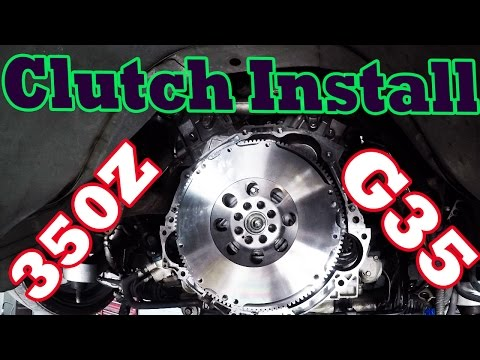 How to Install G35/350Z Clutch and Flywheel with Rear Main Seal
