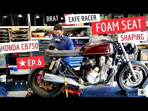 Cafe Racer ★ Foam Seat Shaping Brat Style, Honda CB750 Cafe Bike Ep 6