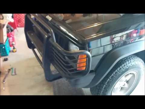 Jeep XJ Brushguard Installation