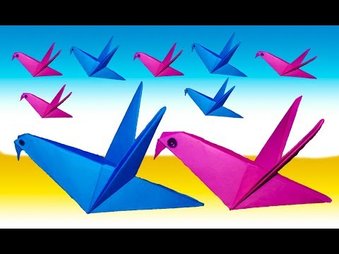 How To Make 3d Paper Birds That Fly-Paper Bird Craft Steps- birds with paper