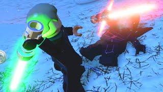 LEGO Star Wars The Force Awakens Luke Skywalker VS Kylo Ren Final Boss Fight