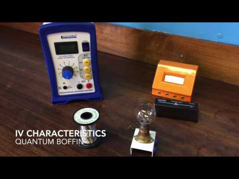 IV Characteristics of a lamp and a wire at constant temperature.