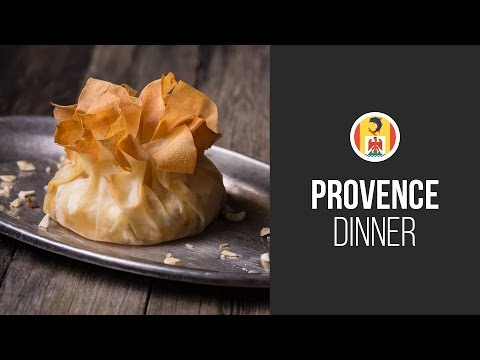 Baked Brie Cheese with Honey and Hazelnuts in Filo Pastry    Around the World:Provence Dinner