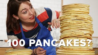 Can You Stack 100 Pancakes? • Tasty