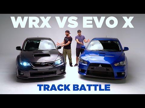 WRX VS EVO X Track Battle [LOSER SELLS CAR]
