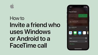 How to send a link to connect on FaceTime on iPhone, iPad, and iPod touch | Apple Support