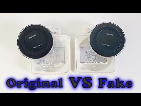 FAKE VS REAL Samsung Wireless Fast Charger - Don't get fooled into buying fake products!