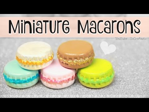 MINIATURE MACARON // DIY Mini Macarons from Bottle Caps // Trinket, Ornament, & Dollhouse Minis