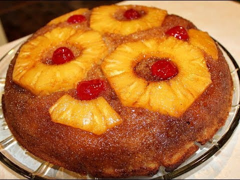 Skillet Pineapple Upside Down Cake with Fresh Pineapple