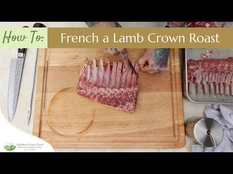 How to French a Lamb Crown Roast or Rack of Lamb