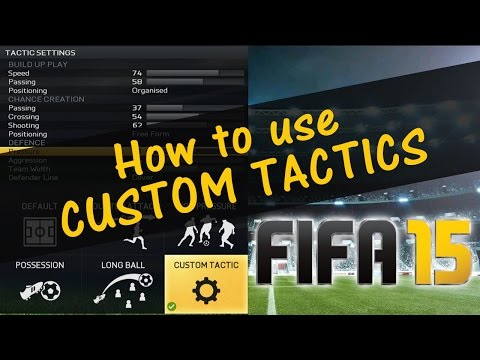 FIFA 15 - FIFA 16 CUSTOM TACTICS TUTORIAL / How to USE, EDIT & SELECT them in Ultimate Team and H2H