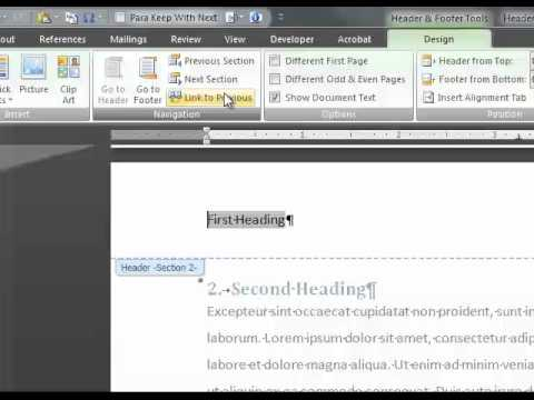 Customize Your Document Header In Word 2007 With Dynamic Content