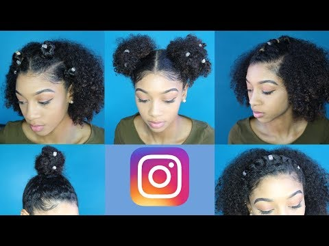 5 Instagram Inspired Natural Hairstyles w/ Accessories (Tutorial)