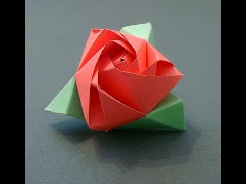 how to make an origami magic rose cube