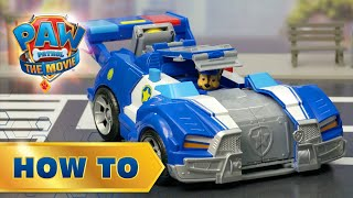 Chase Transforming City Cruiser! PAW Patrol: The Movie - How To Play!