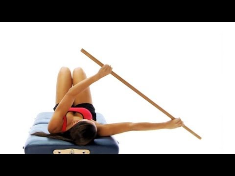 Frozen shoulder exercise - pole mobility