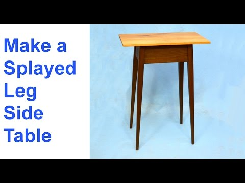 Make a Splayed Leg Side Table