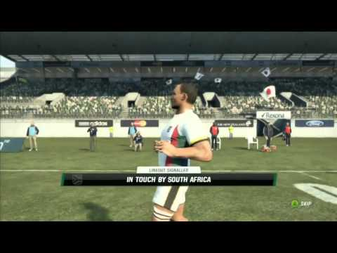 Rugby Challenge South Africa vs. Japan Gameplay Movie (Xbox 360)