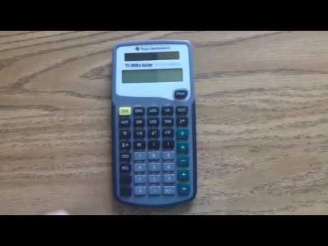TI-30Xa Exponent Key