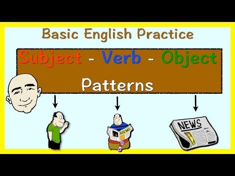 Subject + Verb + Object Pattern | English Speaking Practice | ESL | EFL