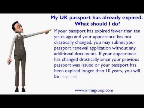 My UK passport has already expired. What should I do?