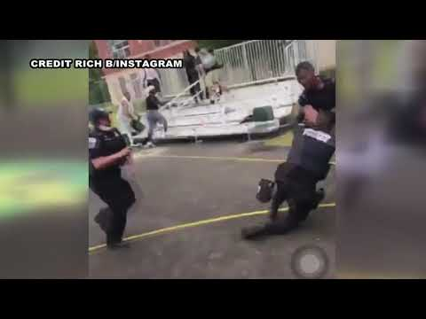 Video shows alleged attack on 2 DC cops at Southeast playground   FOX 5 DC