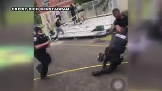 Video shows alleged attack on 2 DC cops at Southeast playground | FOX 5 DC