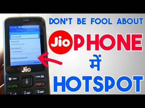 How To Use Hotspot in Jio Phone ?| Make Or Enable Wifi Hotspot In JioPhone | Share Internet Data ?