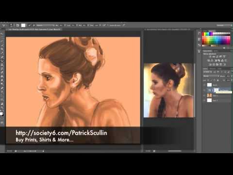 Princess Leia Slave Costume Quick Sketch