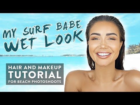 GRWM: HAIR AND MAKEUP TUTORIAL WITH FAKE FRECKLES FOR WET LOOK BEACH PHOTOSHOOT
